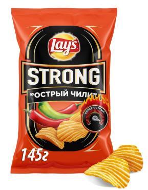 Чипсы Lays Strong Острый Чили картофельные