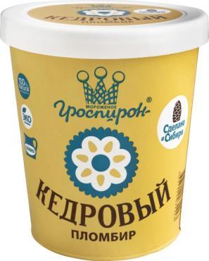 Мороженое Гроспирон Пломбир с кедровым орехом