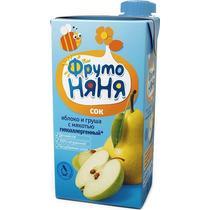 Сок Фруто Няня из яблок и груш с мякотью гипоаллергенный с 3-х лет