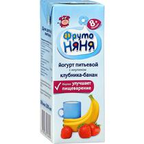 Йогурт ФрутоНяня питьевой клубника банан