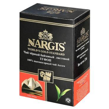 Чай Nargis Assam Tgfop черный листовой, 250 гр., картон