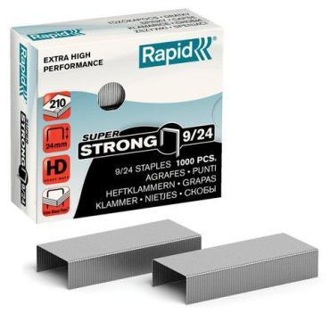 Скобы для степлера Rapid Super Strong №9/24 до 210 листов 1000 штук