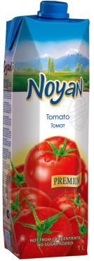 Сок Premium томатный с солью, Noyan, 1 л., тетра-пак