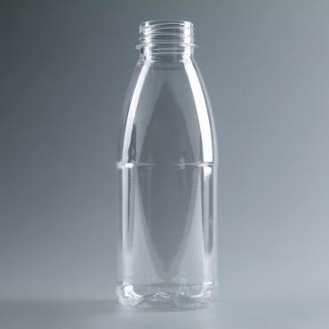 Бутылка Универсал молочная 0,5 л., прозрачная, с широким горлышком 0,38 мм.