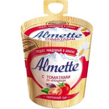 Сыр Almette творожный с томатами по-итальянски, 150 гр.