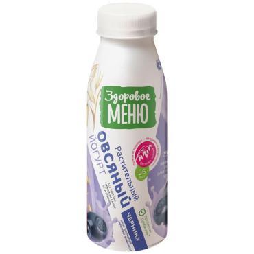 Йогурт Овсяный с персиком, Здоровое меню, 330 мл, ПЭТ
