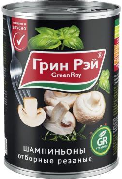 Грибы Green Ray Шампиньоны отборные резаные
