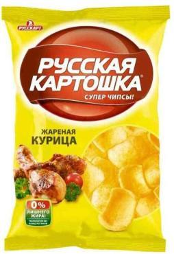 Чипсы ассорти картофельные, Русская картошка, 80 гр, флоу-пак