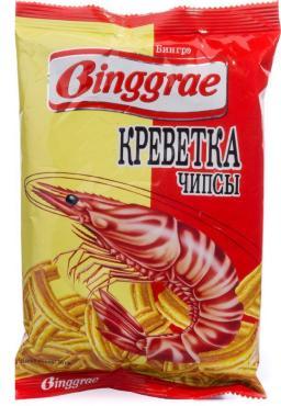 Чипсы креветки, Binggrae, 50 гр, флоу-пак