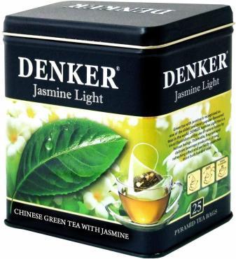 Зеленый чай в пирамидках Denker Jasmine Light, 185 гр., жестяная банка