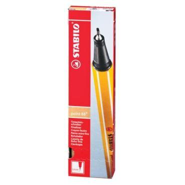 Ручка капиллярная Stabilo Point 88 Светло-телесная корпус оранжевый линия письма 0,4 мм