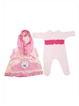 Одежда для кукол Колибри, Жилет и комбинезон для девочки белый, розовый