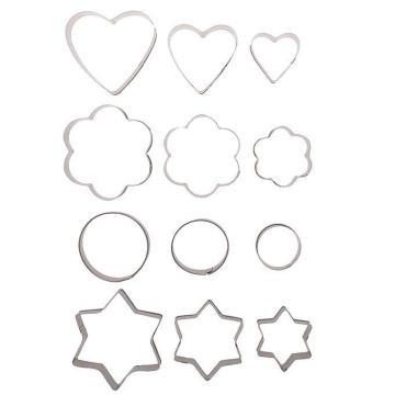 Набор форм для вырезания печенья Доляна Фигурки, 12 шт.: 6,5×1,2 см.