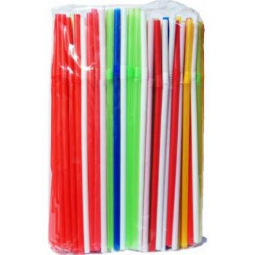 Трубочки для коктейля, цветные, 5х210, 250 шт.