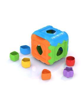 Дидактическая игрушка Кубик синий, зеленый, оранжевый Нордпласт