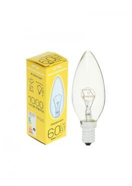 Лампа накаливания СТАРТ свеча прозрачная ДС 60Вт Е14 10/50K