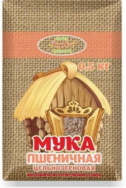 Мука Пшеничная цельнозерновая, Эндакси, 500 гр, бумага