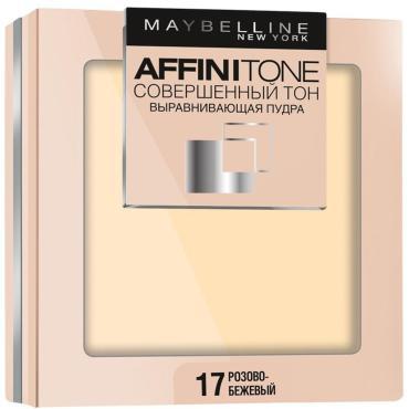 Компактная пудра Maybelline New York Affinitone выравнивающая 17 розово-бежевый
