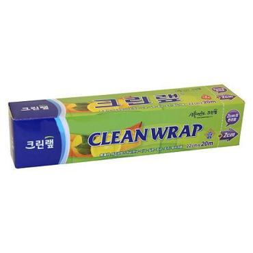 Плотная пищевая пленка Clean Wrap ,с отрывным краем-зубцами, 22см х 20м, 1шт.