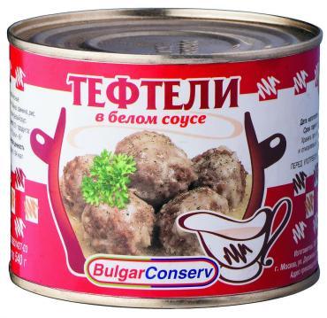 Тефтели мясные Булгарконсерв В белом соусе