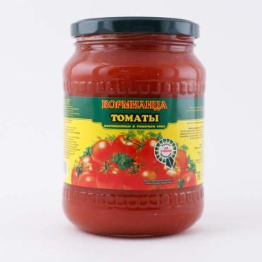 Томаты Кормилица неочищенные в томатном соусе