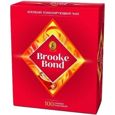 Чай черный Brooke Bond Крепкий тонизирующий 100 пакетов