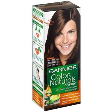 Краска Garnier Color Naturals Creme для волос оттенок 4.3 Золотистый каштан