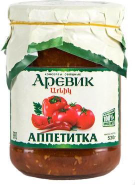 Консервы Аревик Аппетитка овощные