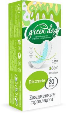 Прокладки Green day Discreete Ежедневные гигиенические 20 шт