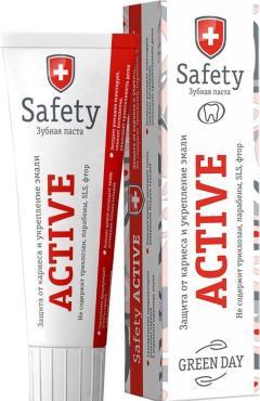 Зубная паста Green day Safety Active Защита от кариеса и укрепление эмали