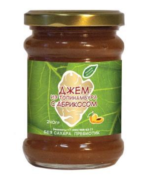 Джем из клубней топинамбура с абрикосом, Купецкий дом Посадъ, 240 гр., стекло