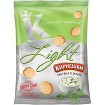 Сухарики Light хрустящие сметана с зеленью, Кириешки, 80 гр, флоу-пак