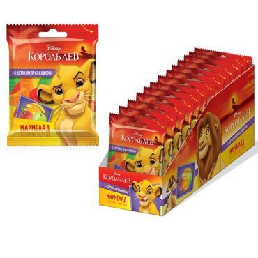 Жевательный мармелад Конфитрейд Vitafruit Disney Король Лев, 65 г х 15 шт