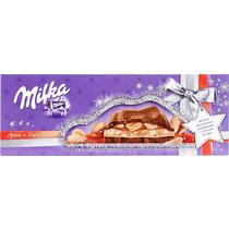Шоколад с арахисом и карамелью , Милка Milka, 276 гр., флоу-пак