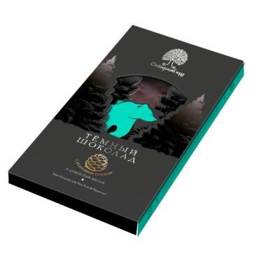 Шоколад темный с мятой и кедровым орехом, Сибирский кедр, 100 гр., картон