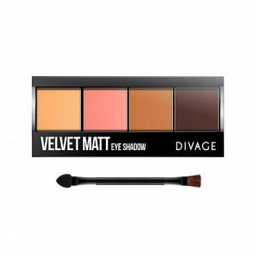 Тени для век Divage Palettes Eye Shadow Тон Velvet Matt № 01