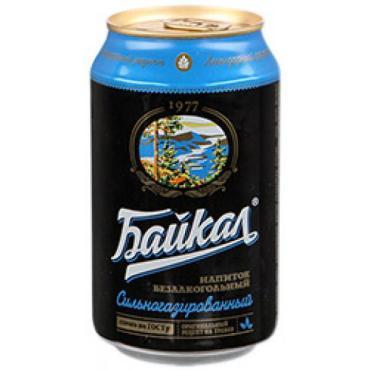 Газированный напиток безалкогольный Байкал 1977, 330 мл., ж/б