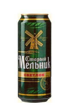 Пиво светлое 4,7% Старый мельник 500 мл., Жестяная банка