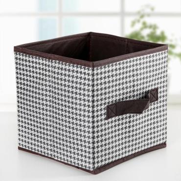 Короб Доляна Вилли для хранения 19×19×19 сантиметров, цвет бело-коричневый