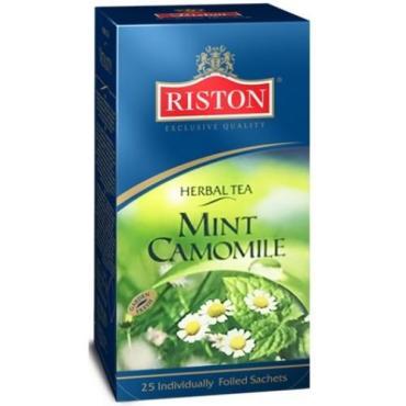 Чай Riston Mint Camomile травяной с ароматом ромашки и мяты 25 пак.