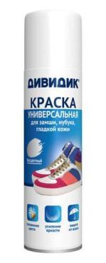 Краска Дивидик для обуви Универсальная для замши, нубука, гладкой кожи Бесцветная
