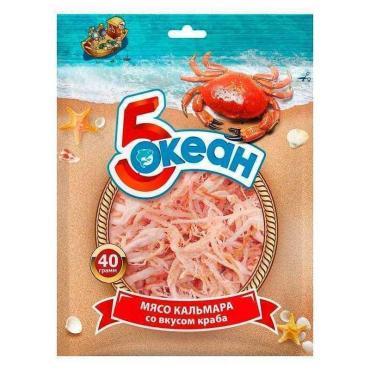 Мясо кальмара Пятый Океан Со вкусом краба