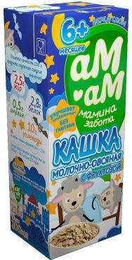 Каша для детей молочно-овсяная 2.5% от 6 месяцев Ам-Ам 210 гр., Тетра-пак