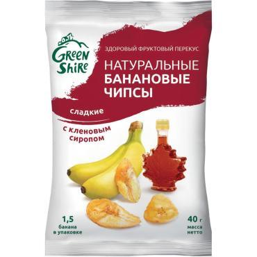 Чипсы Green Shire Банановые с кленовым сиропом сладкие