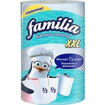 Полотенца бумажные Familia двухслойные белые XXL 1шт.