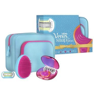 Подарочный набор Gillette Venus Snap Компактная бритва для женщин Venus Snap + Сменная кассета + Расческа + Дорожная косметичка
