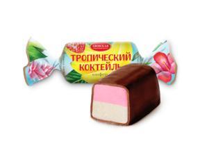 Конфеты Азовская КФ Тропический коктейль помадные глазированные