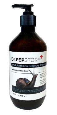Шампунь для восстановления волос с муцином улитки, Dr. Pep Story, 500 мл., пластиковая бутылка с дозатором