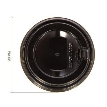 Крышка для гор. напитков с откидным питейником 90 мм, черная глянцевая