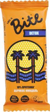 Батончик фруктово-ореховый Take A Bite Detox Абрикос-Миндаль, 45 гр., флоу-пак